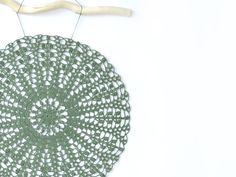 Ganchillo tapete pared decoración Crochet Mandala por Bohoholique