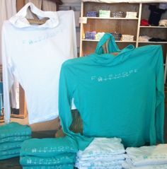 Fairhope Store hooded t-shirts. Summer 2014. Lightweight and perfect for those chilly grocery store runs!