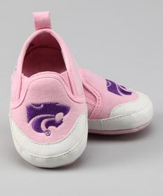 Take a look at this Pink Kansas State University Booties by Campus Footnotes on #zulily today!