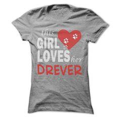 This girl loves her Drever - Cool Dog Shirt 0009 !