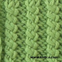 Right side of knitting stitch pattern – Ribbing 2
