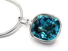 Silver Earrings - Swarovski Indicolite