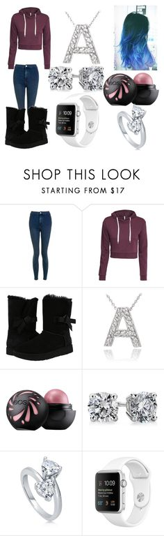 """Untitled #129"" by ajahc ❤ liked on Polyvore featuring Topshop, H&M, UGG, Icz Stonez, Blue Nile and BERRICLE"