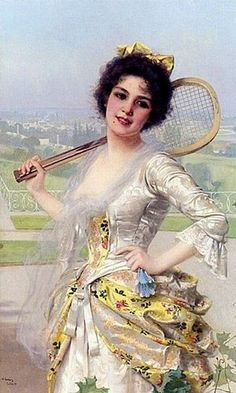 An Elegant Player by Vittorio Matteo Corcos.