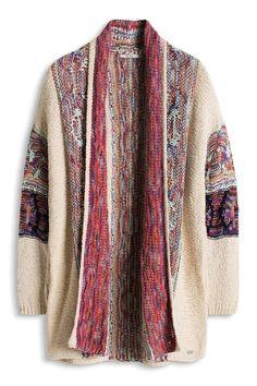 edc by ESPRIT im Hippie Look - chaqueta punto Mujer 91452a70f30f