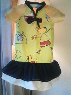 Baumwollvolant Kleidchen Größe 80