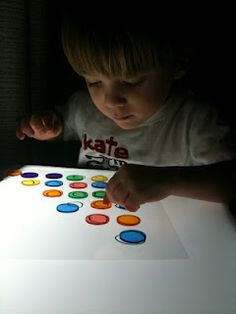 home made light table worksheets