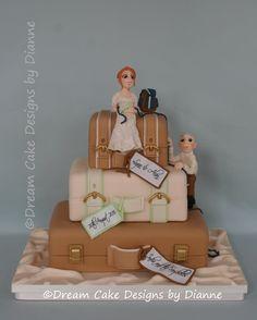 LYNN & ALAN ~ Suitcase Wedding Cake