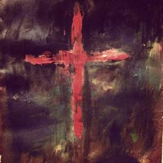 Day 39: Artful Lent Prompt.  Matt 27:45. Luke 23:44-45. Hebrews 3:15.   Darkness. It was as if all of nature mourned and yet there were still those who doubted. No matter what they saw or what they felt they still could not believe.   #artfullent #artfulstoryjournal #lent