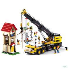Costruzioni GRU TELESCOPICA CON CANTIERE mattoncini Sluban 0551 Per bambini