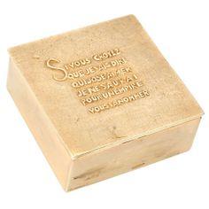 Line Vautrin, boîte en bronze