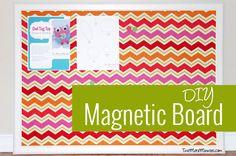 DIY Fabric Magnetic Board