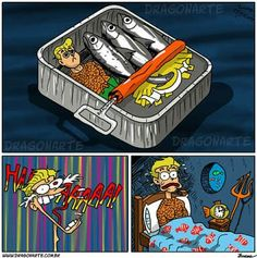 """""""Aquaman has a nightmare about being packed with sardines"""""""