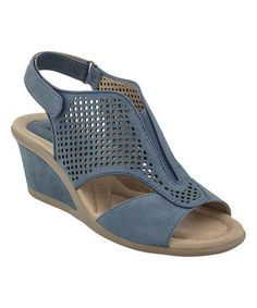 2d5ad97d85a4 Parisian Blue Nubuck Dalia Sandal  zulilyfinds Slipper Sandals