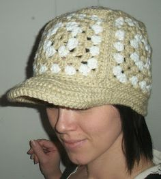 Free Pattern. 365 Crochet: G Square Cap and Bill Crochet Hat