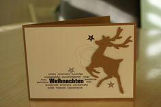 Moderne Weihnachtskarte in Su Farben kandiszucker und vanille