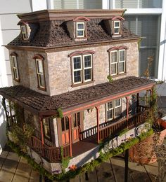 The Lily Victorian Dollhouse by minis on the edge, via Flickr