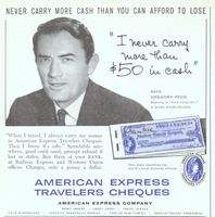 American Express Gregory Peck 1959 Ad Picture