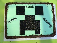 Minecraft ice cream birthday cake Minecraft Birthday Party, Birthday Parties, Ice Cream Birthday Cake, Birthdays, Party Ideas, Desserts, Crafts, Anniversary Parties, Anniversaries