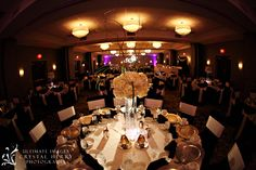 #tall #centerpiece #white #ivory #acolyte #ballroom