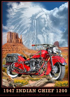 """Indian Chief"" ~ Classic Motorcycle Dreams"