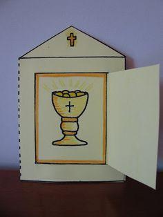 Catholic Crafts, Catholic Kids, Church Crafts, Adoration Catholic, Jesus Ressuscité, Première Communion, First Communion, Jesus Is Life, Religion Catolica