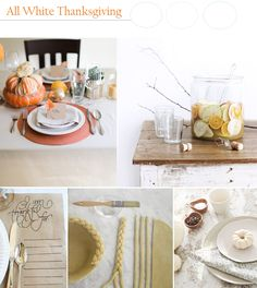 Party Palette: All White Thanksgiving Celebration - The Party DIY Babys First Thanksgiving, Thanksgiving Celebration, Inspiration Boards, Autumn Inspiration, Harvest Time, All White, Diy Party, My Favorite Color, Celebrations