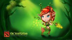 Wallpaper aiushtha, enchantress, dota 2, chibi
