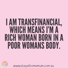 I think I'm transfinancial! #savemoney #frugal