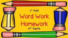 This pack has 4 weeks of word work homework.  Each week is comprised of two different word families or rimes.  I send it home as part of my weekly homework packet, along with my sight word homework, reading logs, and math homeworkbut you can also use this packet as daily practice in the classroom as well.If you have any ELLs or any children that might need help at home from their parents/guardians who may not know English very well, I also have the same exact packet with directions in both…