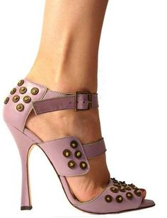 Manolo Blahnik Spring 2010 rosey pink, pretty heels, perfect neutrals, studded shoes, strappy sandals www.editglobal.com