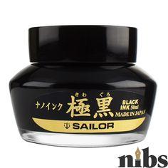 Sailor Kiwa-Guro Black Pigment Ink Black Pigment, Pigment Ink, Sailor Pens, Ink Pen Art, Calligraphy Ink, Pen Pals, Writing Pens, Wax Stamp, Fountain Pen Ink