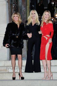 Goldie Hawn, Donatella Versace y Kate Hudson