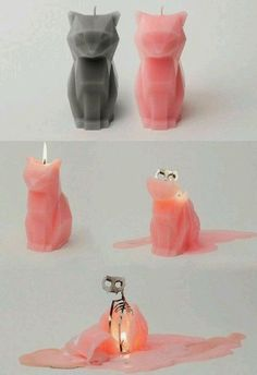 Home accessory: candle home decor skeleton cats cool hipster grunge pastel goth kawaii creepy