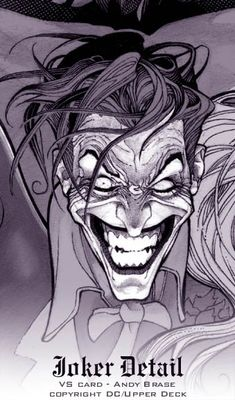 The Joker detail card from Upperdeck by Andy Brase