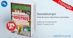 """#Promocao """"Goosebumps: guia de como sobreviver a monstros"""", de Susan Lurie foi baseado no filme e tem tudo para um sucesso total. Leia o guia e saiba como salvar a sua cidade de zumbis, cachorros vampiros e outros seres abomináveis. Vem pra Cia.!"""