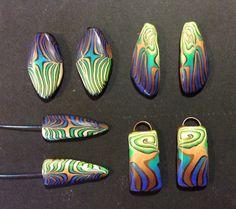 More of that polymer clay crazy cane by Karen Brueggemann.