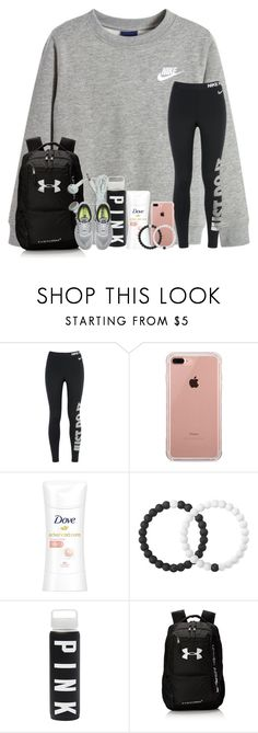 """""""just do it ✔️"""" by arieannahicks ❤ liked on Polyvore featuring NIKE, Belkin, Lokai and Under Armour"""