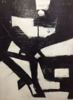 30x40 Abstract Black and White Painting by ArtbyCindyRobinson, $450.00