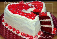 El próximo San Valentín que mejor que sorprender a tu pareja con esta estupenda ¡¡Tarta San Valentín!! (Si te gustan mis recetas dale a ME GUSTA y comparte). Receta en mi Blog: http://lacocinadelolidominguez.blogspot.com.es/2015/01/tarta-san-valentin.html   Videoreceta en You Tube: https://www.youtube.com/watch?v=cjhO_cGcL14