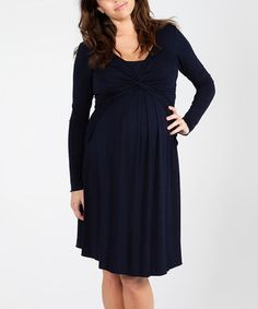 Love this EGG Equinox Twist Milkbar Maternity/Nursing Dress by EGG on #zulily! #zulilyfinds