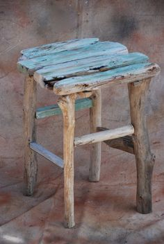 Driftwood table - small driftwood table, foot stool or stand made of Maui driftwood