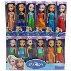 Aisha Boneca 17cm Elsa Toys Dolls Anna Elsa Princess Cartoon Dolls For Kids Girls