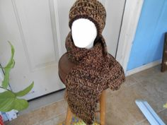 No Fat Chocolate Fudge Delight is made of two strands of acrylic yarn. Hand Wash and drape to dry. The reason for the name is chocolate was on my