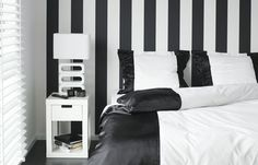 Jan des Bouvrie, the man of 'Black & White'. Bedroom collection including wallpaper