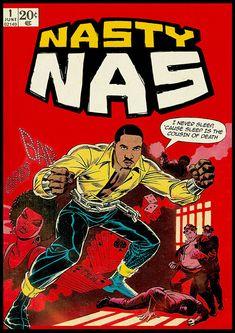 Ads Libitum — New Project : Dangerous MC's © Ads Libitum. Nas Hip Hop, Arte Do Hip Hop, Hip Hop Art, Hip Hop And R&b, Luke Cage, Ad Libitum, History Of Hip Hop, Nicky Larson, Comic Art