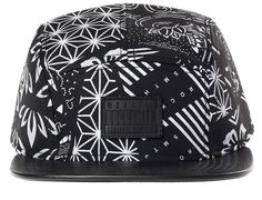 Black Fuji Bandana 5 Panel Cap by ROCKSMITH