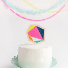 Get a little modern with this simple geo cake topper.