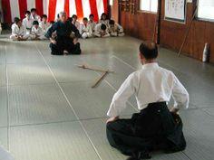 Nishioka Tsuneo and Katsuhiko Arai demonstrating the traditional bowing before/after a kata in the japanese martial art Shinto Muso-ryu.  http://martialarts.aktpromotions.net/