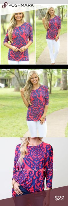 Red/navy top True to size.  👍🏽Join our Facebook group! Search: Khaotic Kollection  💥www.khaotickollection.com Tops Tunics